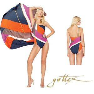 Gottex Maritime One Shoulder One Piece Swimsuit 8